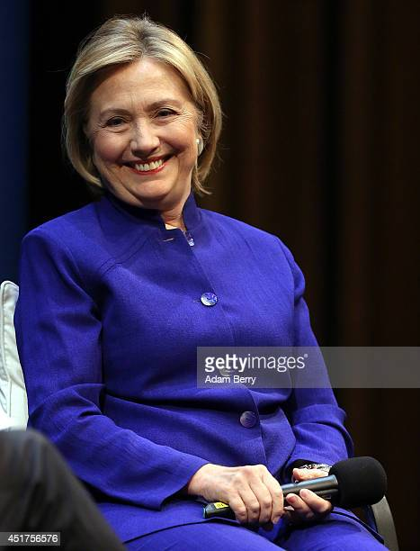 Hillary Rodham Clinton former United States Secretary of State US Senator and First Lady of the United States speaks during the presentation of the...