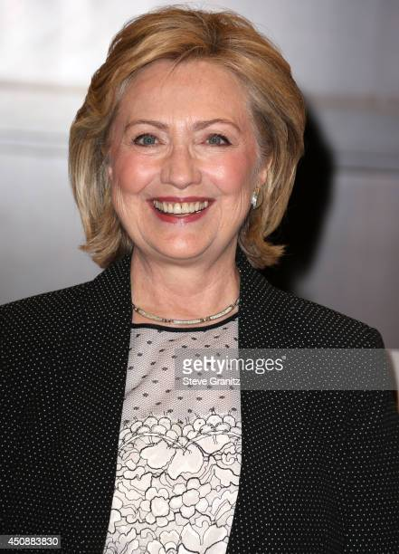 Hillary Rodham Clinton Signs And Discusses Hard Choices at Barnes Noble bookstore at The Grove on June 19 2014 in Los Angeles California