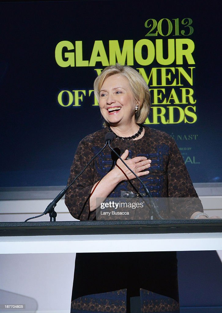 Hillary Rodham Clinton speaks onstage at Glamour's 23rd annual Women of the Year awards on November 11, 2013 in New York City.