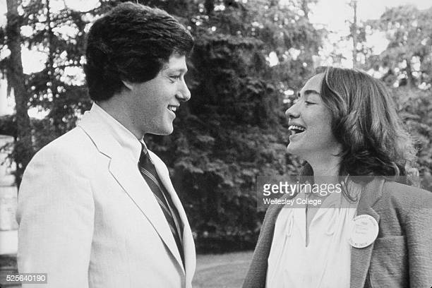 Hillary Rodham Clinton with Bill Clinton at Wellesley College in Wellesley Massachusetts 1979