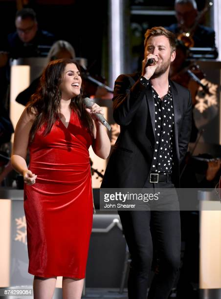 Hillary Scott and Charles Kelleyof Lady Antebellum perform onstage for CMA 2017 Country Christmas at The Grand Ole Opry on November 14 2017 in...