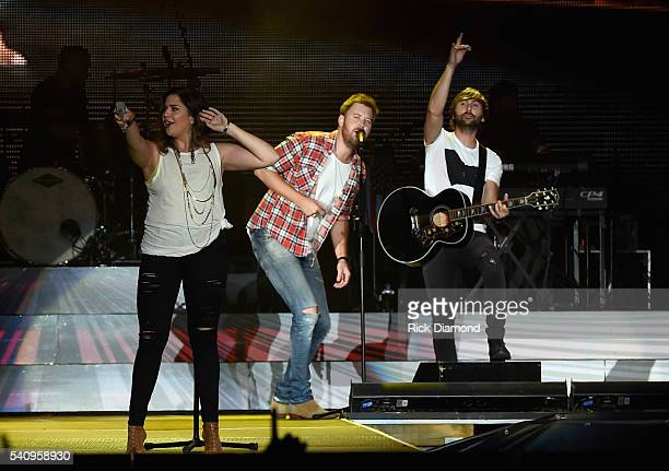 Hillary Scott Charles Kelley and Dave Haywood Lady Antebellum headlines 2016 Windy City LakeShake Country Music Festival Day 1 at FirstMerit Bank...
