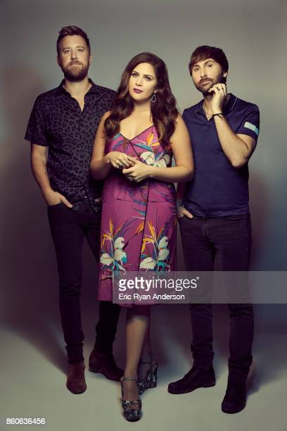 Hillary Scott Charles Kelley and Dave Haywood of American country music group Lady Antebellum are photographed at the 2017 CMA Festival for Billboard...