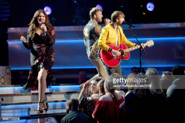 Hillary Scott Charles Kelley and Dave Haywood of Lady Antebellum perform onstage at the 53rd Academy of Country Music Awards at MGM Grand Garden...