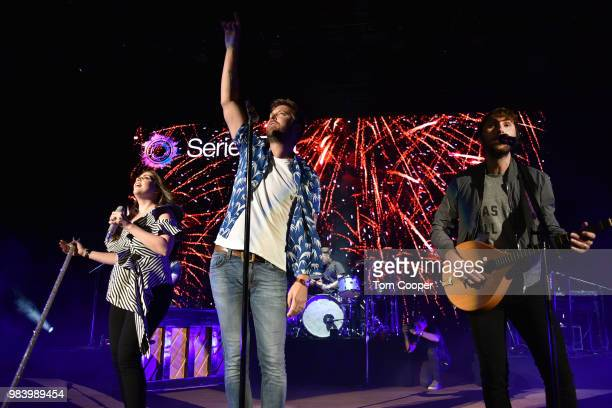 Hillary Scott Charles Kelley and Dave Haywood of Lady Antebellum make their Red Rocks Amphitheatre Debut for SeriesFest Seasons 4 Centerpiece Event...