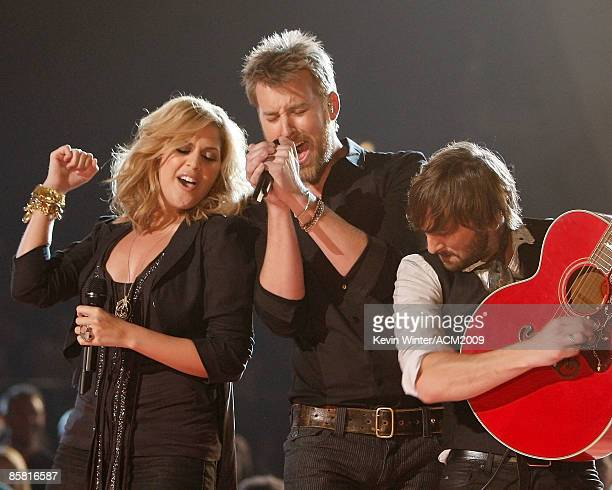 Hillary Scott Charles Kelley and Dave Haywood of Lady Antebellum perform onstage during the 44th annual Academy Of Country Music Awards held at the...