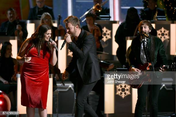 Hillary Scott Charles Kelley and Dave Haywood of Lady Antebellum perform onstage for CMA 2017 Country Christmas at The Grand Ole Opry on November 14...