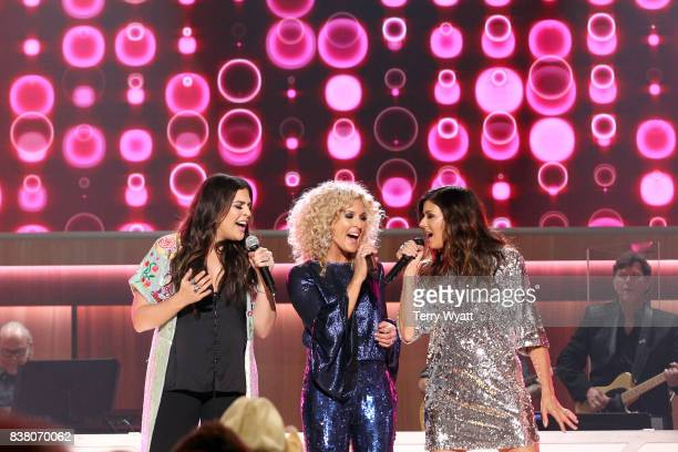 Hillary Scott Kimberly Schlapman and Karen Fairchild perform onstage during the 11th Annual ACM Honors at the Ryman Auditorium on August 23 2017 in...
