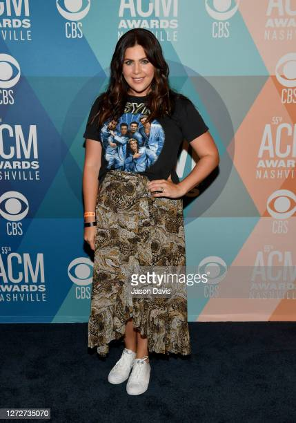 Hillary Scott of Lady A attends virtual radio row during the 55th Academy of Country Music Awards at Gaylord Opryland Resort & Convention Center on...
