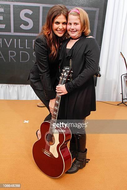 Hillary Scott of Lady Antebellum and her sister Rylee attend the 2010 SESAC Nashville Music awards dinner at SESAC on November 8 2010 in Nashville...