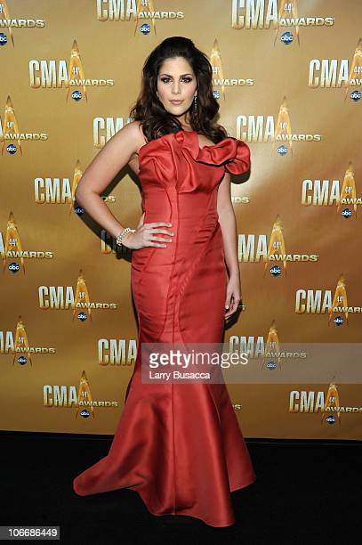 Hillary Scott of Lady Antebellum attends the 44th Annual CMA Awards at the Bridgestone Arena on November 10 2010 in Nashville Tennessee