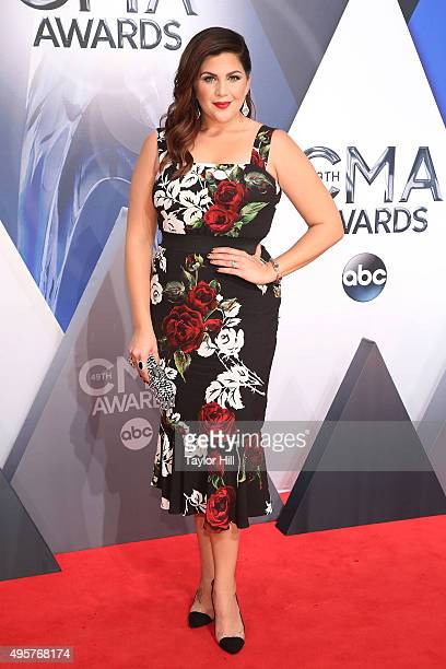 Hillary Scott of Lady Antebellum attends the 49th annual CMA Awards at the Bridgestone Arena on November 4 2015 in Nashville Tennessee