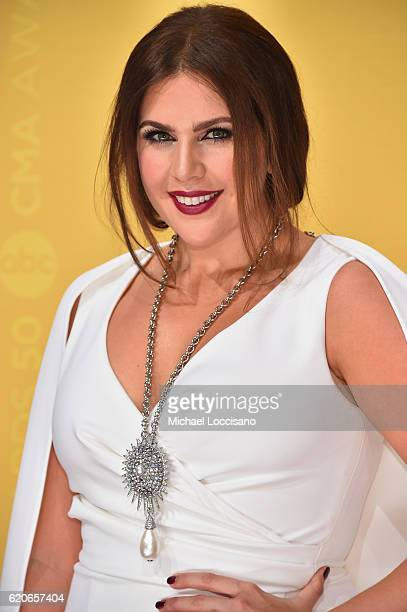 Hillary Scott of Lady Antebellum attends the 50th annual CMA Awards at the Bridgestone Arena on November 2 2016 in Nashville Tennessee