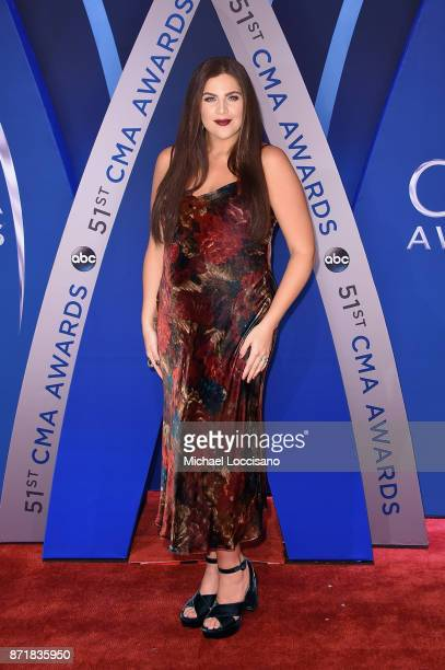 Hillary Scott of Lady Antebellum attends the 51st annual CMA Awards at the Bridgestone Arena on November 8 2017 in Nashville Tennessee