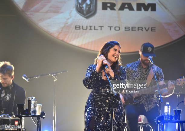 "Hillary Scott of Lady Antebellum performs on stage during ""Stars and Strings Presented by RAM Trucks Built to Serve,"" a RADIO.COM Event, at the Fox..."