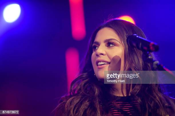 Hillary Scott of Lady Antebellum performs onstage during CBS RADIO's Third Annual 'Stars and Strings' Concert to honor our nation's veterans at...