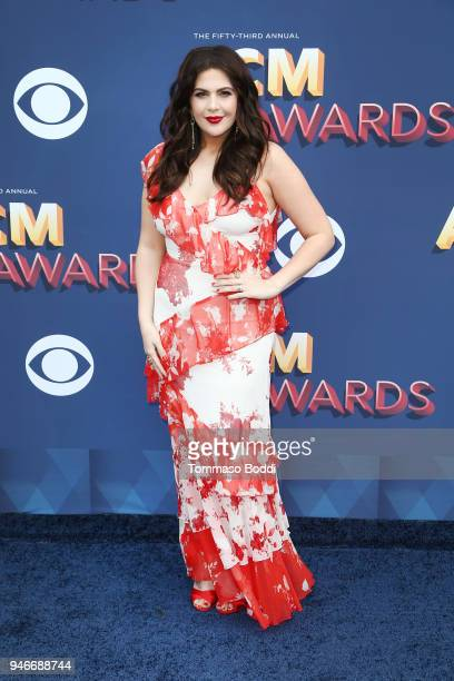 Hillary Scott of musical group Lady Antebellum attends the 53rd Academy of Country Music Awards at MGM Grand Garden Arena on April 15 2018 in Las...