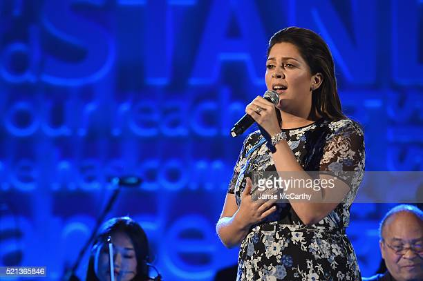Hillary Scott performs at Stand Up To Cancer's New York Standing Room Only presented by Entertainment Industry Foundation with donors American...