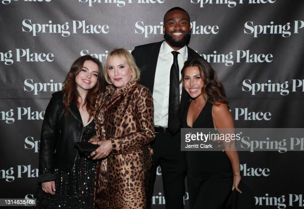 Hillary Shor and André attend Spring Place's Oscars party honoring Andra Day and the cast of The United States vs. Billie Holiday on April 25, 2021...