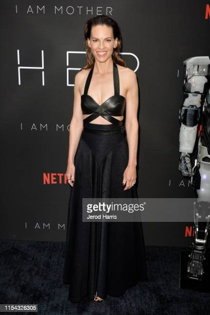 Hillary Swank arrives at LA Special Screening Of Netflix's 'I Am Mother' at ArcLight Hollywood on June 06, 2019 in Hollywood, California.