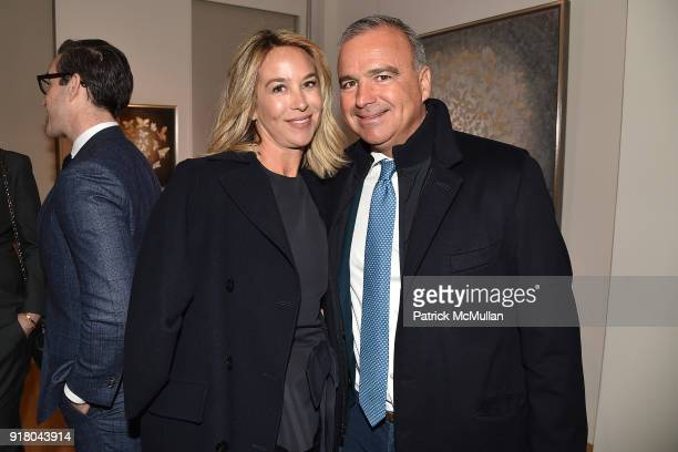 Hillary Thomas and JP Conte attend Neil Grayson Industrial Melanism solo exhibition at Eykyn Maclean Gallery on February 13 2018 in New York City