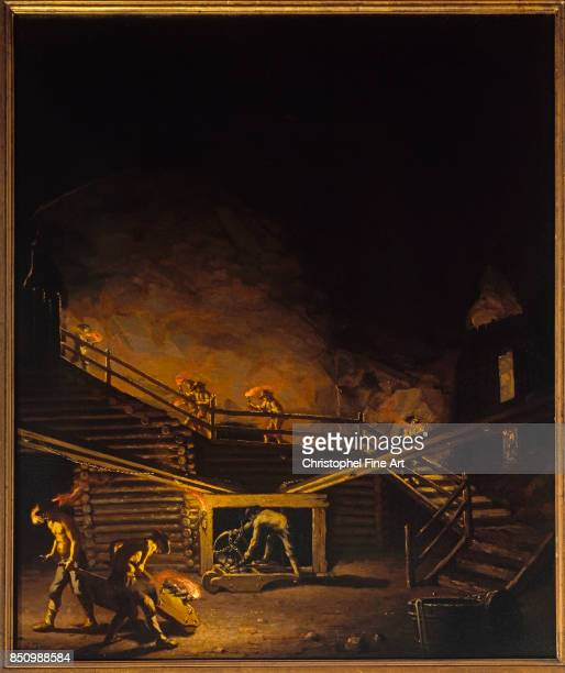 Hillestrom Pehr , Gallery in Falun Copper Mine, 18th century , Stockholm. National Museum.