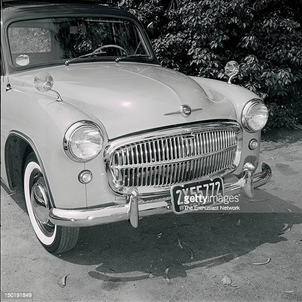 Hillman Husky Outtakes from Walt Woron's Driving Around department in October 1955 issue of Motor Trend This Hillman Husky features white wall tires...