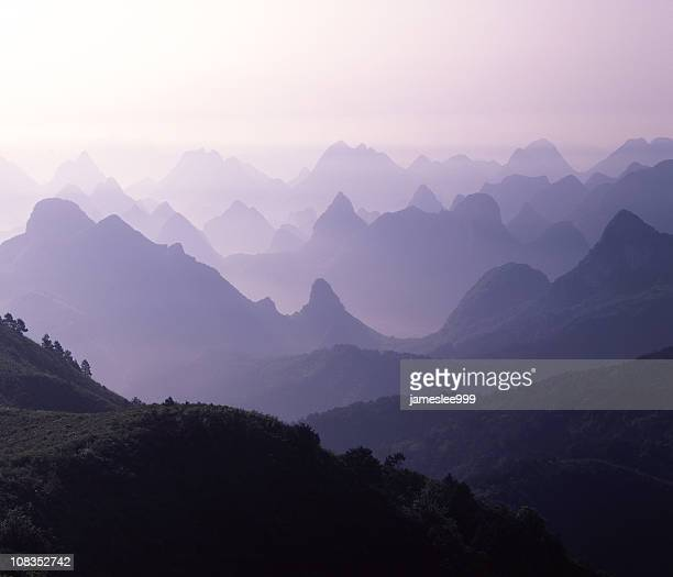 Hills And Peaks In The Mist