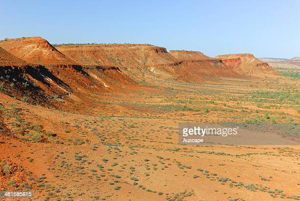 Hills associated with the Charlotte Range in the Finke River catchment Idracowra Station edge of the Simpson Desert Northern Territory Central...