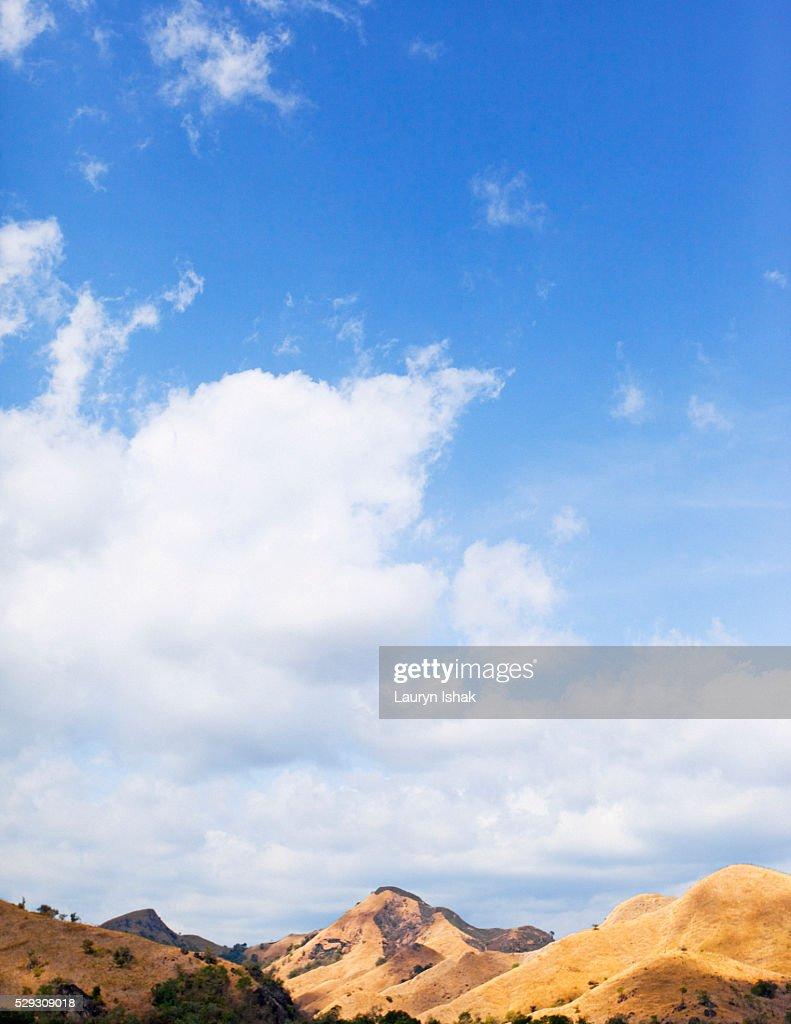 Hills in Komodo National Park : Stock Photo