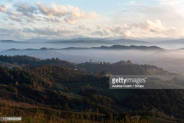 hills landscape - reggio emilia stock pictures, royalty-free photos & images