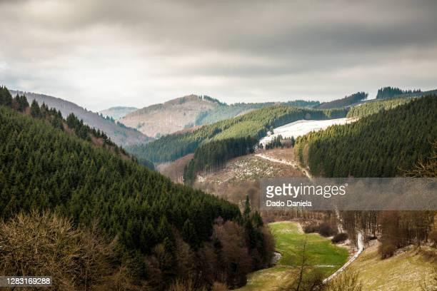 hills of sauerland - ヴィンターベルク ストックフォトと画像