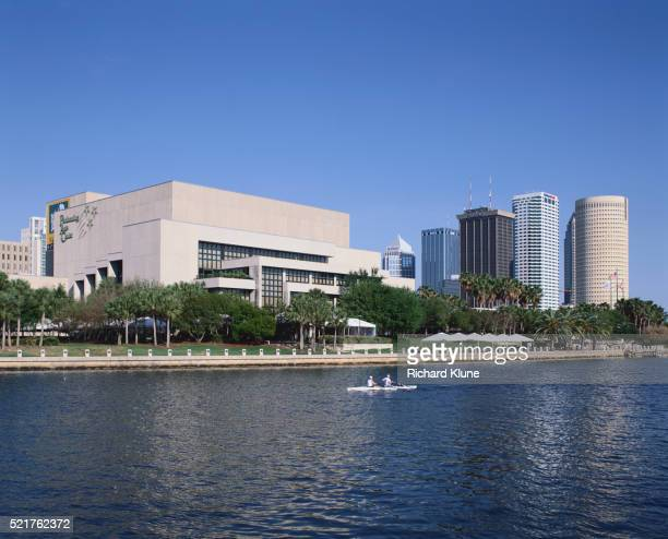 hillsborough river and tampa bay performing arts center - performing arts center stock pictures, royalty-free photos & images
