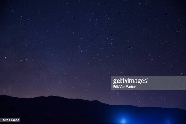 hillside at night with stars - nature stock pictures, royalty-free photos & images