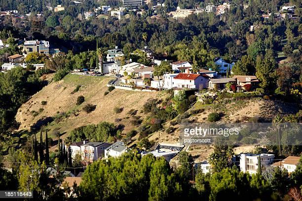Hillside homes in Woodland Hills of the San Fernando