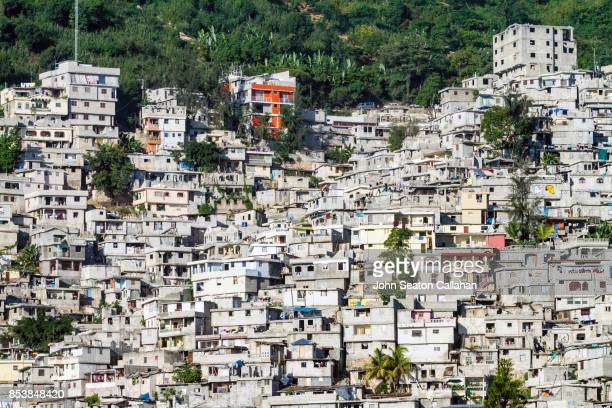 hillside housing in petionville - haiti stock pictures, royalty-free photos & images
