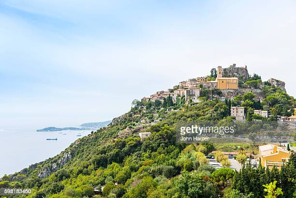 Hillside town of Eze on the Cote d'Azur