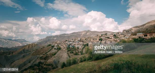 hillside village, dagestan, russia - 北コーカサス ストックフォトと画像