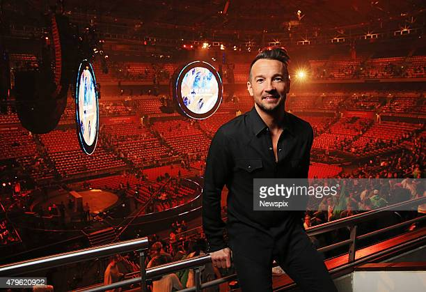 Hillsong NYC Pastor Carl Lentz pictured backstage at the Hillsong Conference at Allphones Arena in Sydney, New South Wales.