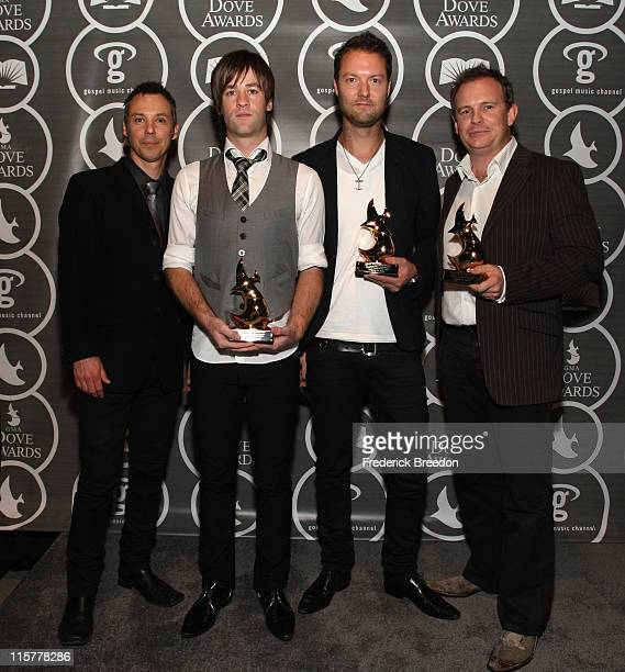 Hillsong United poses in the press room at the 40th Annual GMA Dove Awards held at the Grand Ole Opry House on April 23, 2009 in Nashville, Tennessee.