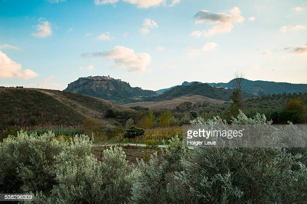 hilltop village of santa severina - calabria stock pictures, royalty-free photos & images