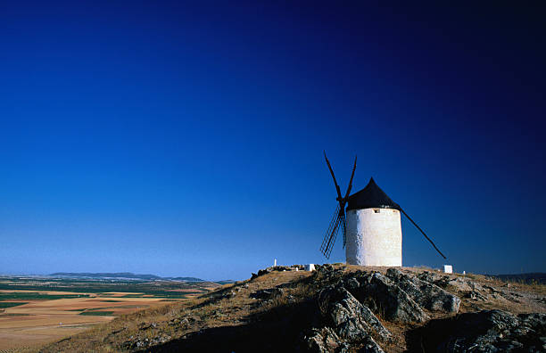 Hilltop windmills made famous by Don Quijote, Consuegra.