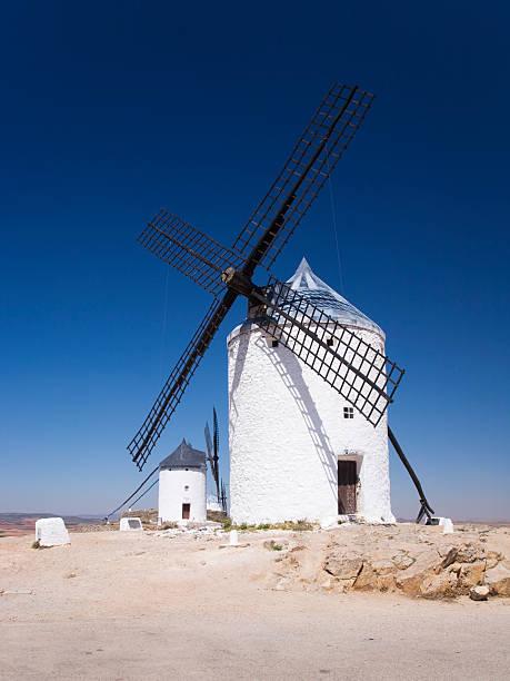 Hilltop windmills.