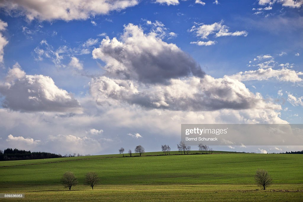 Hilly Landscape On A Stormy Day : Stock-Foto