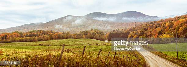 Hilly pastures in Appalachian mountain range