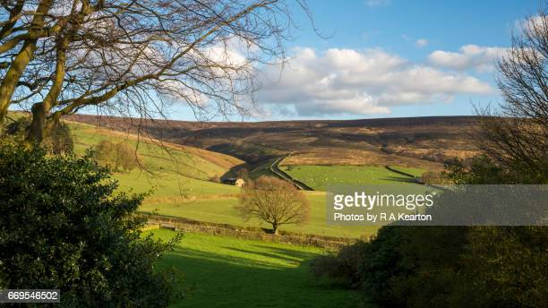 Hilly scenery in the North of England