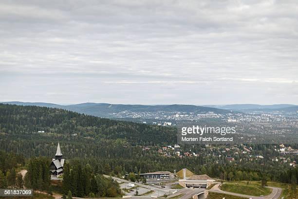 Hilly town Holmenkollen
