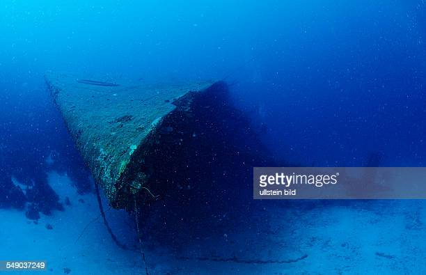 Hilma Hooker Ship Wreck, Bow, Netherlands Antilles, Bonaire, Caribbean Sea