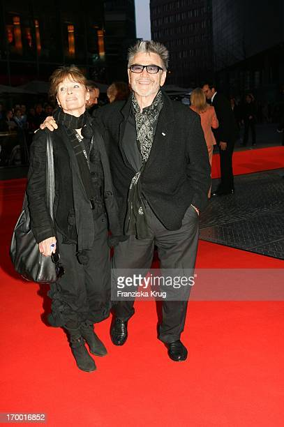 Hilmar Thate and wife Angelica Domröse In Germany at Premiere Of The Interpreter In Berlin Cinestar