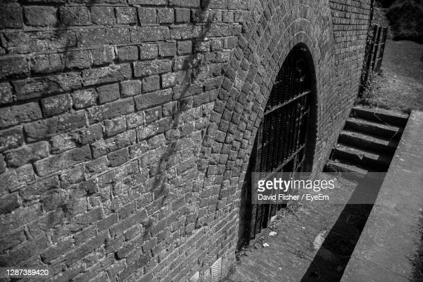 hilsea lines ramparts ancient monument gated arch way. - staircase stock pictures, royalty-free photos & images